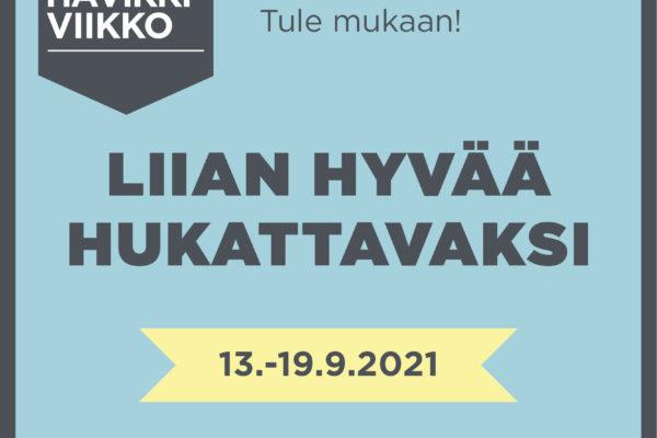 Hävikkiviikko 13. – 19.9.2021 kannustaa ruokahävikin pienentämiseen -artikkelikuva