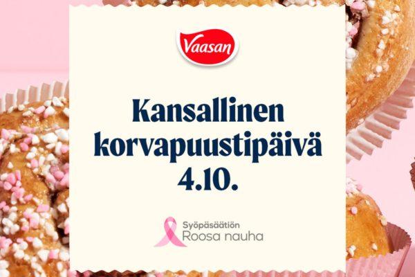 Roosa pullat Makunne Ravintoloissa Korvapuustipäivänä 4.10.2021 -artikkelikuva